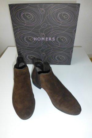 Homers Stivale Chelsea nero-marrone scuro Pelle
