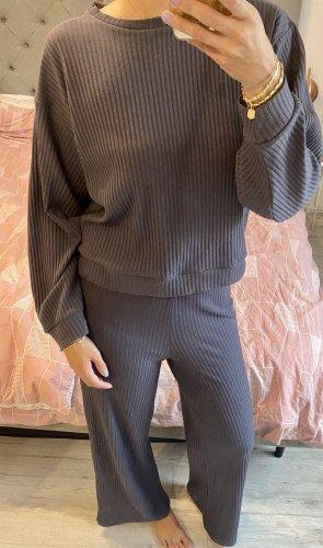Topshop Completo sportivo grigio ardesia-viola-grigio