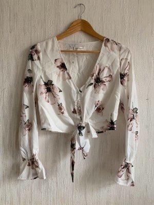 Honey Punch geblümte Bluse Hemd Crop Top floral vintage ruffle puff sleeve retro asos