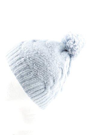 Hooch Strickmütze blau Zopfmuster Casual-Look