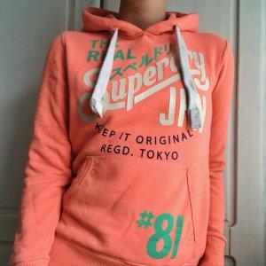 Superdry Hooded Sweatshirt salmon-neon orange
