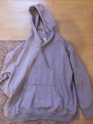 H&M Sudadera con capucha lila grisáceo