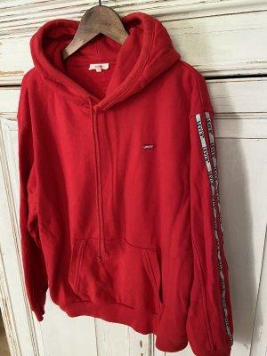 Levi's Maglione oversize rosso scuro-bianco