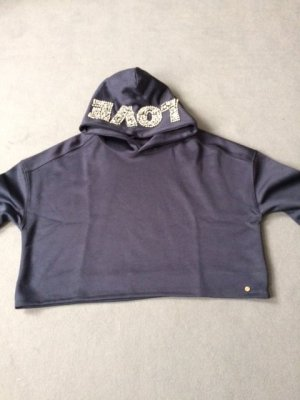Cotton Candy Hooded Sweatshirt dark blue polyester