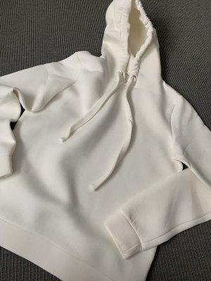Opus Felpa con cappuccio bianco sporco Cotone