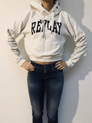 Replay Hooded Sweater white