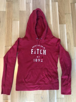 Abercrombie & Fitch Capuchon sweater donkerrood