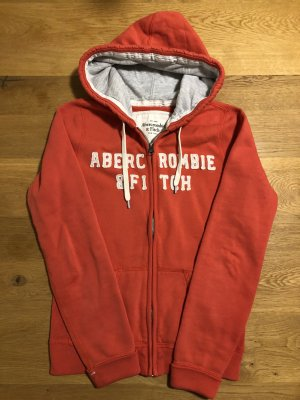 Abercrombie & Fitch Felpa con cappuccio rosso chiaro