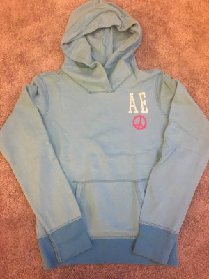American Eagle Outfitters Hooded Sweater turquoise