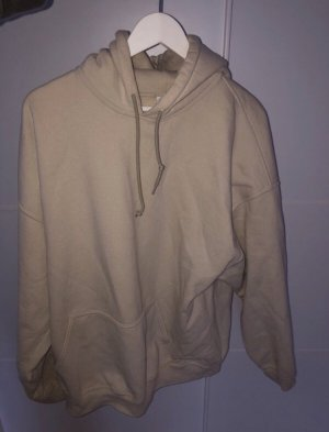 Sweter oversize kremowy-jasnobeżowy