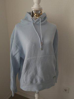 Pull & Bear Sweter z kapturem jasnoniebieski-niebieski