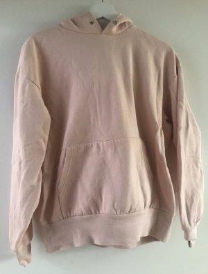 H&M Sweatshirt met capuchon stoffig roze