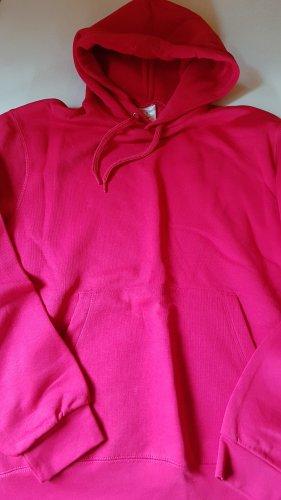 B&C collection Bluza z kapturem różowy Bawełna