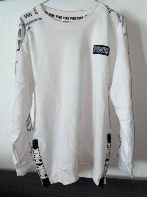 hoodie in weiß von victoria secret pink