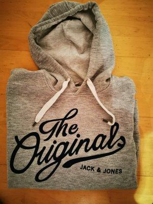 Jack & Jones Maglione con cappuccio grigio-blu