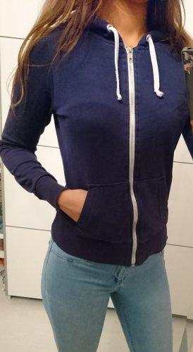hoodie jacke zip dunkelblau S 36