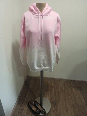 Hoodie / Kapuzenpulli Pink weiß Farbverlauf Gr. M L XL