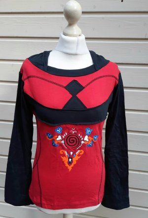 Hooded Shirt black-red