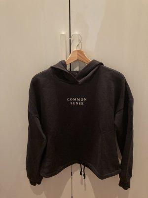 Gina Tricot Jersey con capucha blanco-negro
