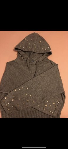 Zara Hooded Sweater grey-white