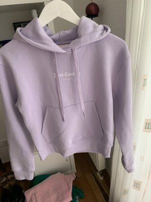 Juicy Couture Hooded Sweater purple cotton