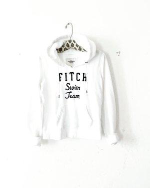 hoodie • sweater • abercrombie & fitch • weiss • blau