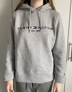 Tommy Hilfiger Sweter z kapturem jasnoszary