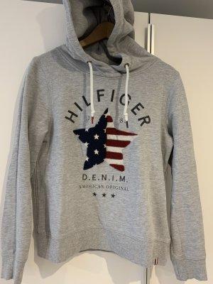 Tommy Hilfiger Sweatshirt met capuchon grijs-lichtgrijs