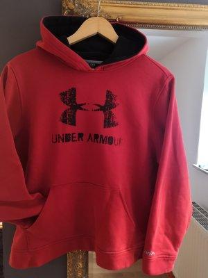 Under armour Maglione con cappuccio nero-rosso