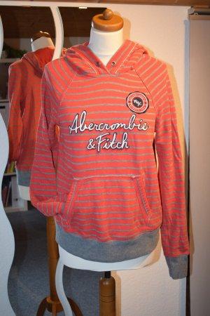 Hoodie von Abercrombie & Fitch in Größe 36 rot grau