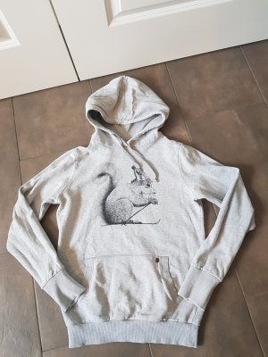 armed angles Hooded Sweater light grey cotton