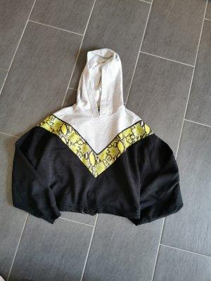 Bershka Koszulka z kapturem czarny-żółty