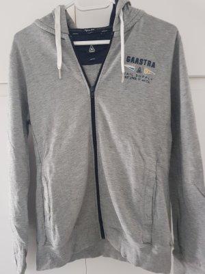 Gaastra Blusa con capucha gris claro-azul oscuro