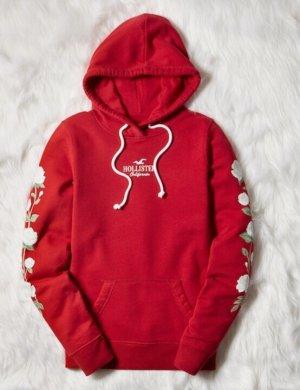 Hollister Maglione con cappuccio rosso