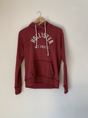 Hollister Capuchon sweater wit-donkerrood