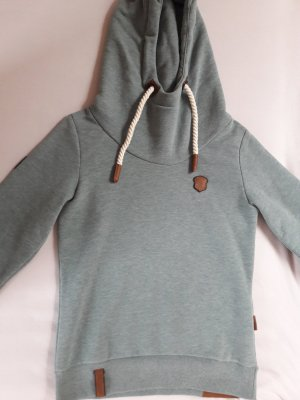 Naketano Capuchon sweater groen-grijs Katoen