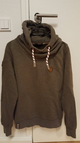 Naketano Hooded Sweater olive green-green grey