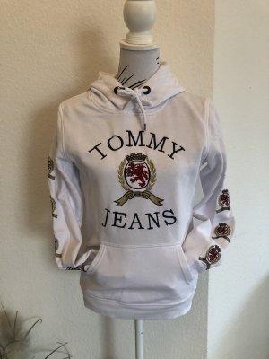 Tommy Jeans Bluza z kapturem biały