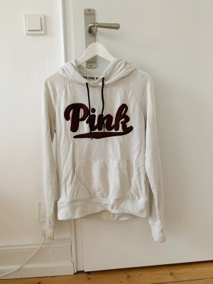 Pink Maglione con cappuccio bianco-bordeaux