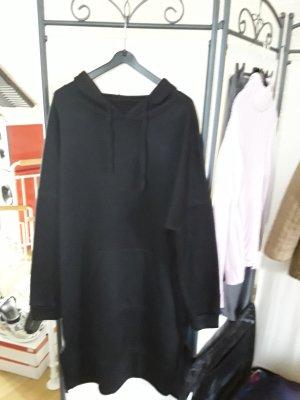 keine Marke Sukienka z kapturem czarny