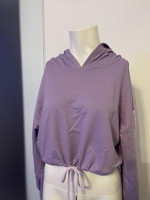 SheIn Felpa con cappuccio viola-bianco