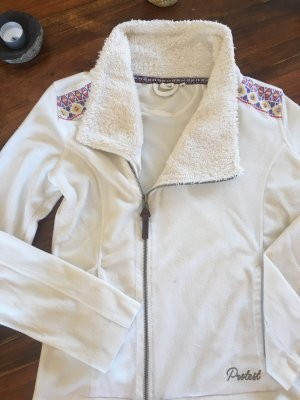 Protest Fleece Jackets natural white