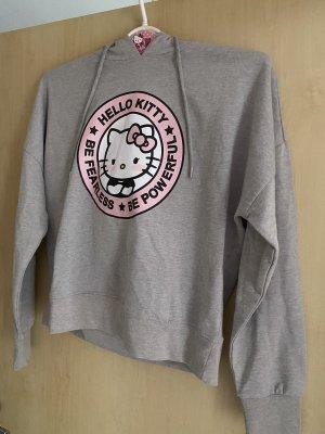 Suéter gris claro-rosa