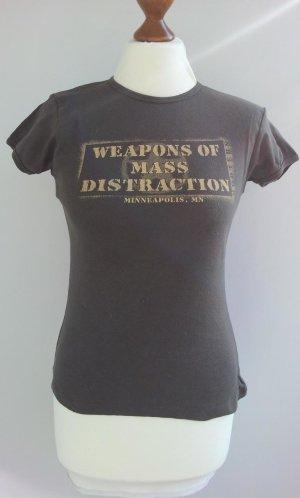 Hooters Minneapolis Top/T-Shirt in M (36/38), Khaki-Grün, Druck