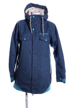 Horsefeathers Winterjacke blau Schriftzug gestickt Casual-Look