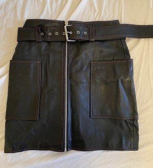 Hosbjerg Falda de cuero negro