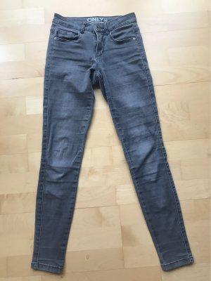 Only Pantalon taille basse gris