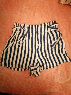 Bershka Lniane spodnie biały