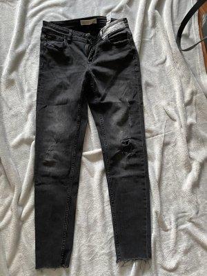 Spodnie typu boyfriend czarny