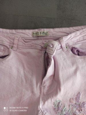 Denim Co. 3/4 Length Trousers light pink